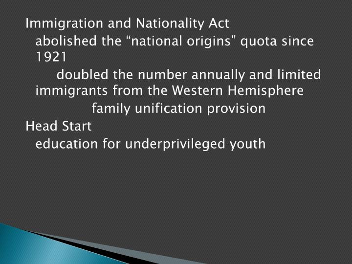 Immigration and Nationality Act