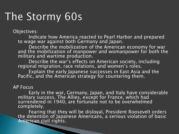 The Stormy 60s