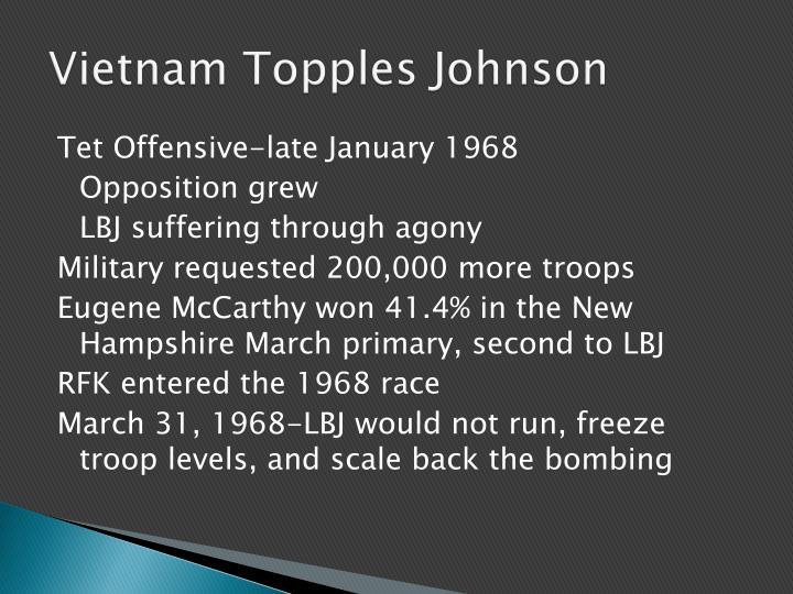 Vietnam Topples Johnson
