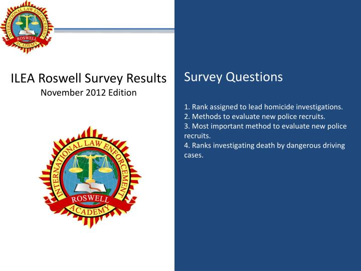ILEA Roswell Survey Results