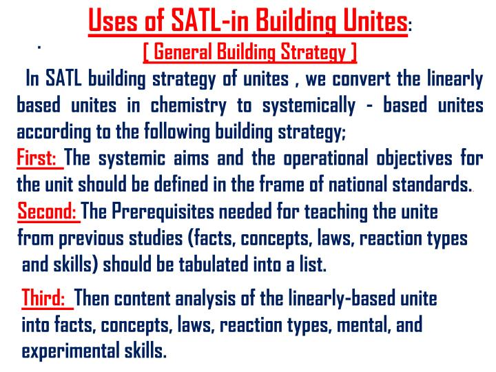 Uses of SATL-in Building Unites