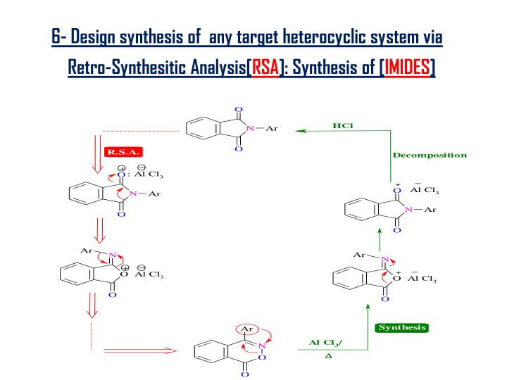 6- Design synthesis of  any target heterocyclic system via