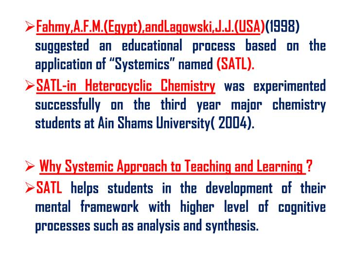 Fahmy,A.F.M.(Egypt),andLagowski,J.J.(USA