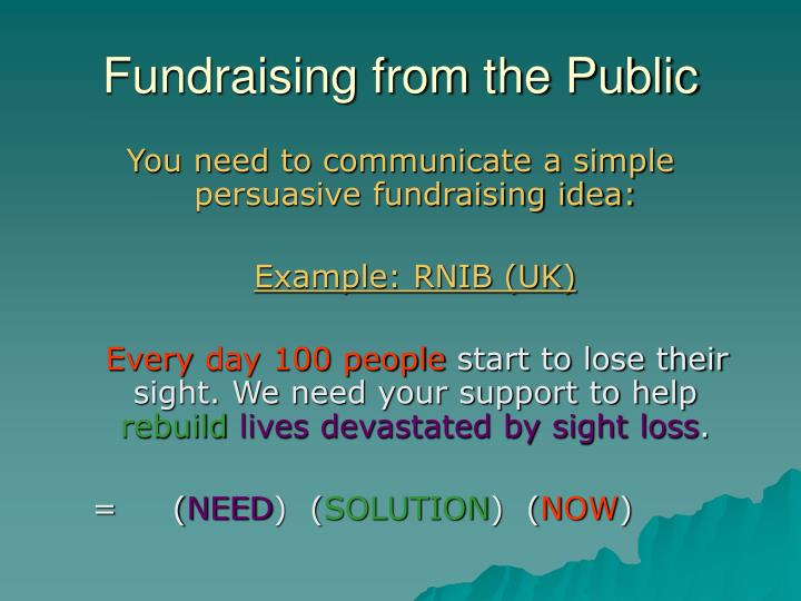 Fundraising from the Public