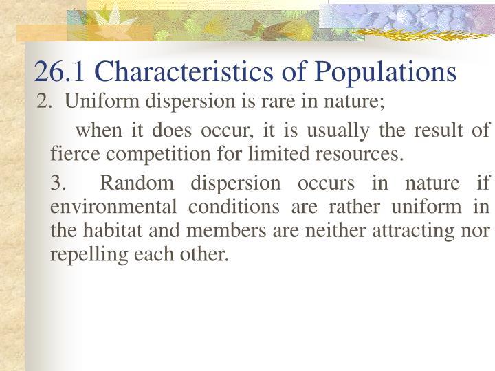 26.1 Characteristics of Populations