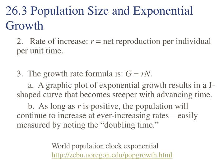 26.3 Population Size and Exponential Growth