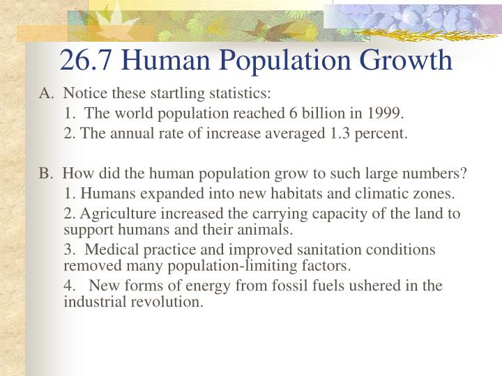 26.7 Human Population Growth