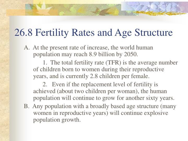 26.8 Fertility Rates and Age Structure
