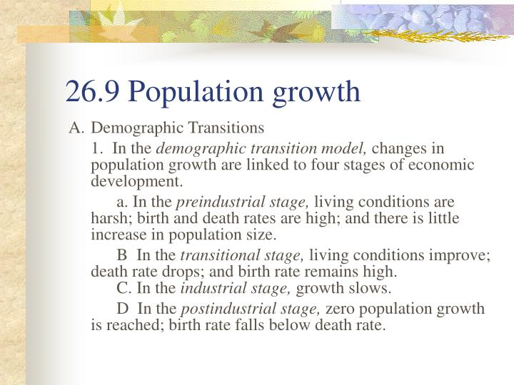 26.9 Population growth