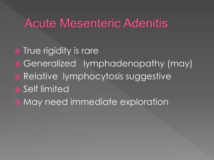 Acute Mesenteric Adenitis