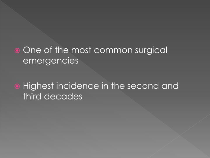 One of the most common surgical emergencies