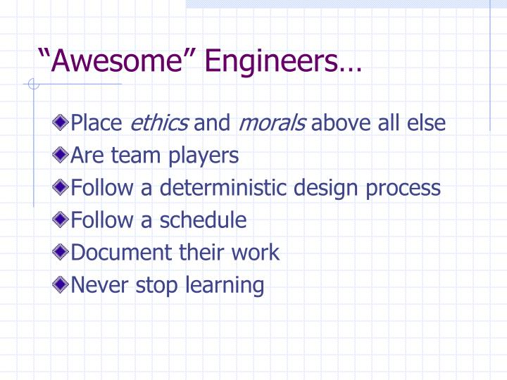 """Awesome"" Engineers…"