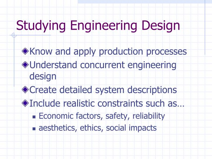 Studying Engineering Design