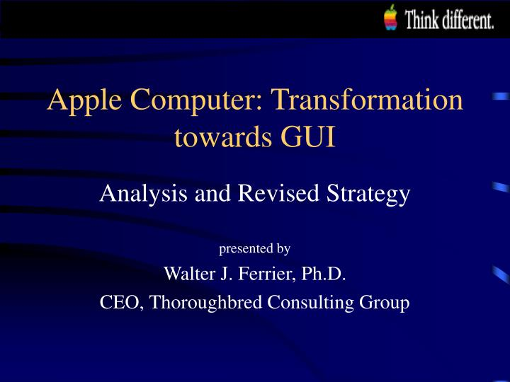 Apple computer transformation towards gui