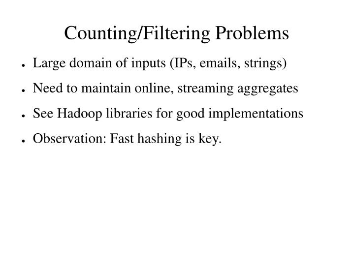 Counting/Filtering Problems