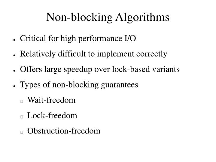 Non-blocking Algorithms