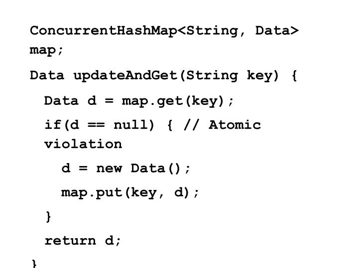 ConcurrentHashMap<String, Data> map;