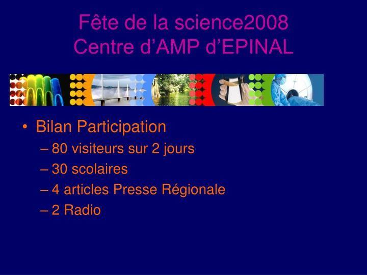 Fête de la science2008
