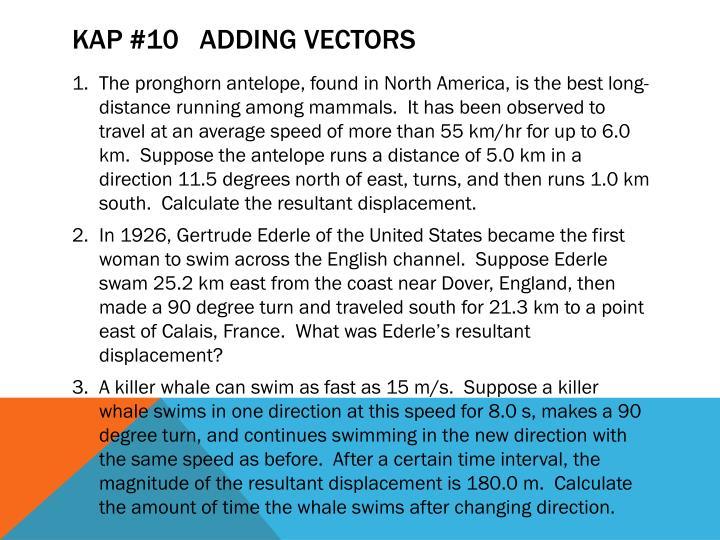 KAP #10   adding vectors