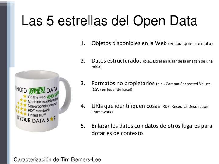 Las 5 estrellas del Open Data
