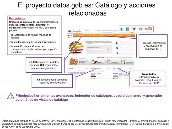 El proyecto datos.gob.es: C