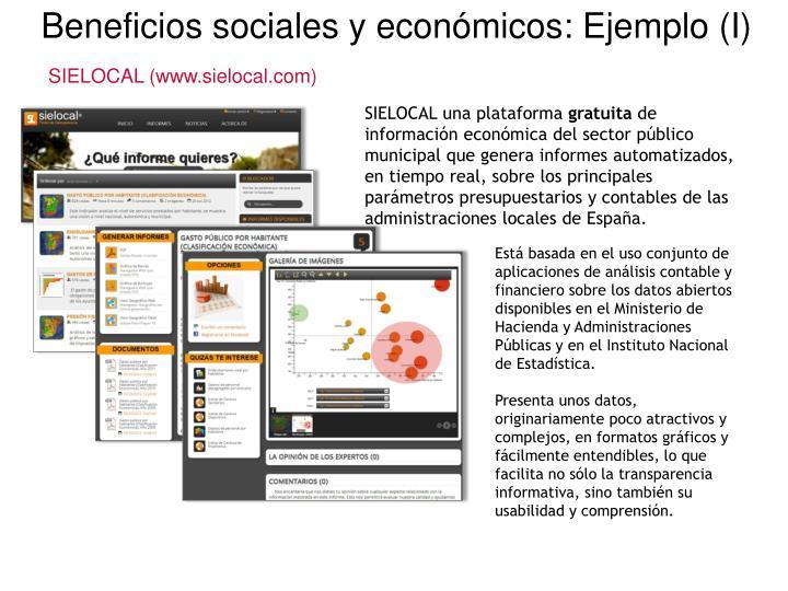 Beneficios sociales y económicos: Ejemplo (I)