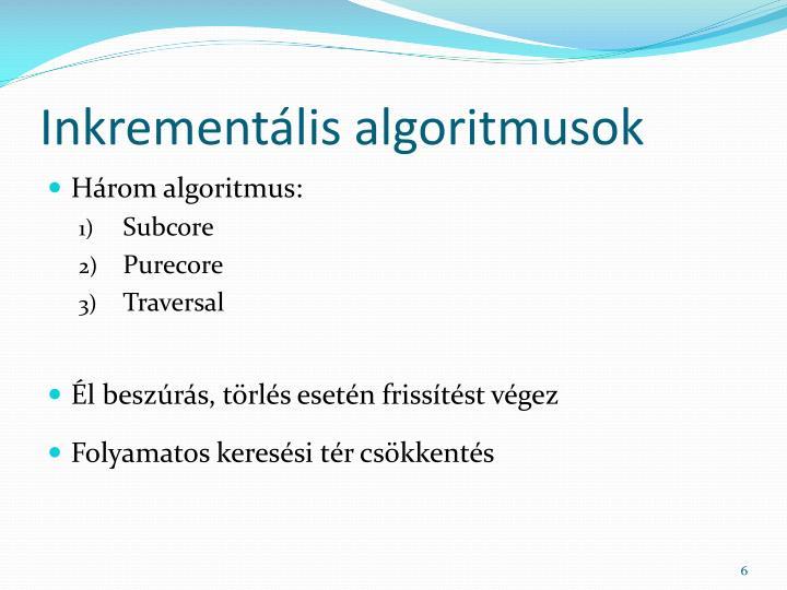 Inkrementális algoritmusok