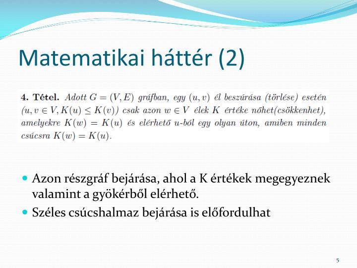 Matematikai háttér (2)
