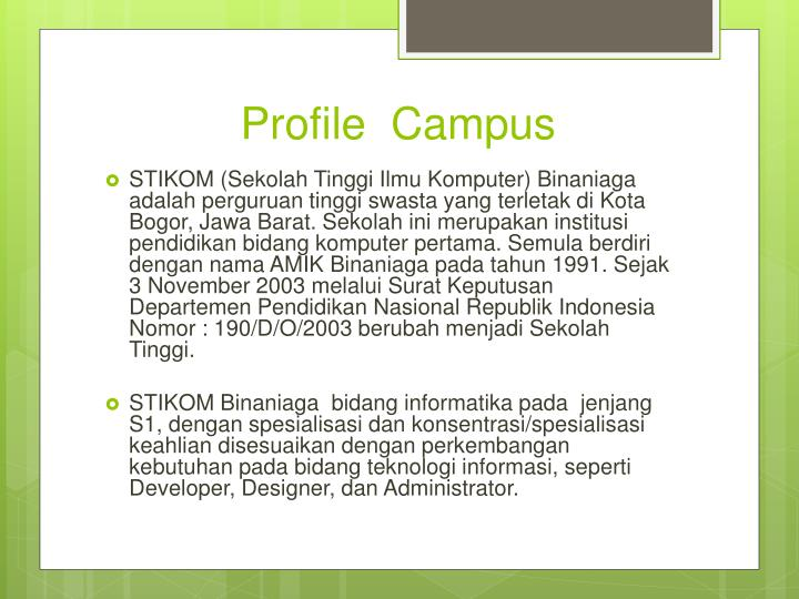 Profile  Campus