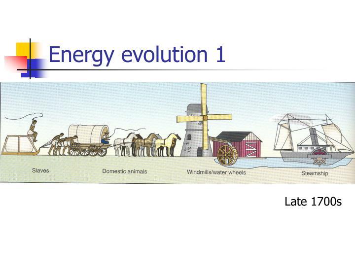 Energy evolution 1