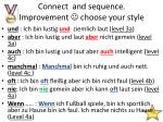 connect and sequence improvement choose your style