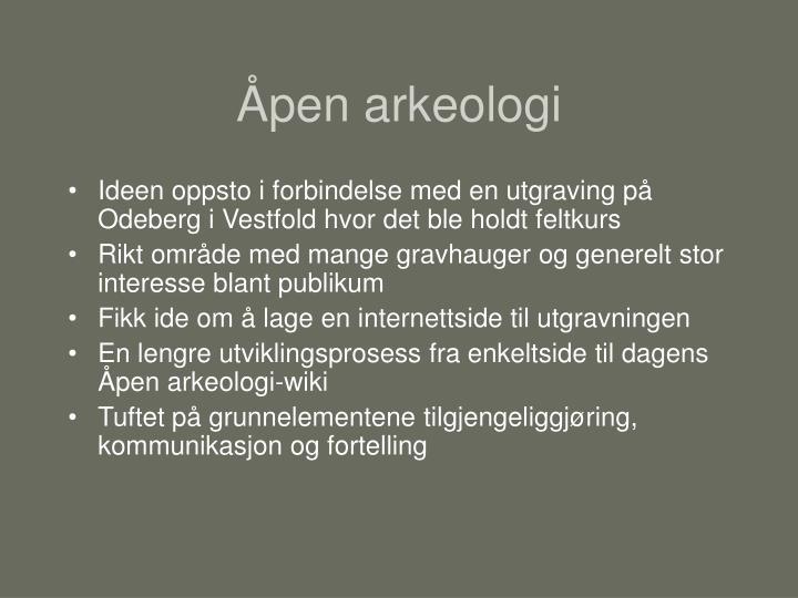 Åpen arkeologi