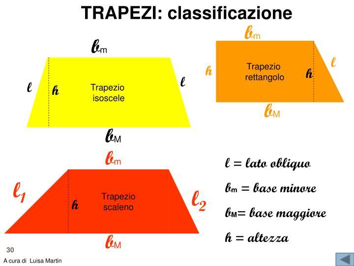 TRAPEZI: classificazione