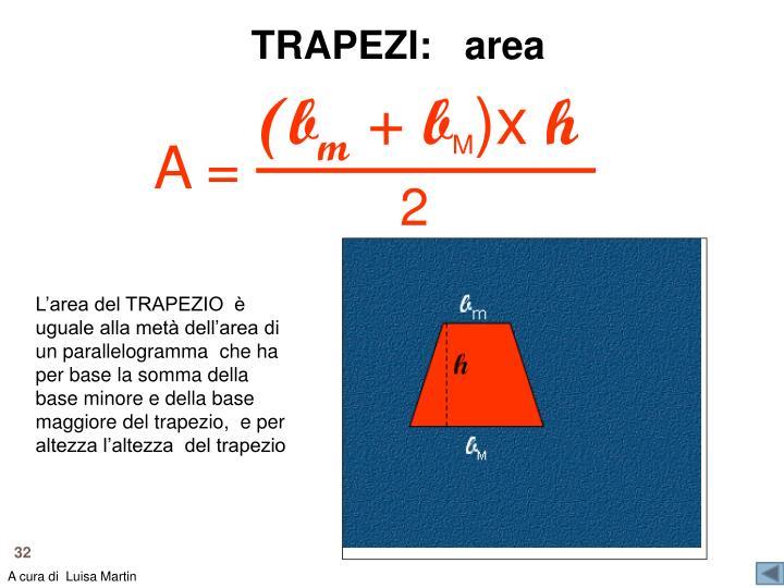 TRAPEZI:   area