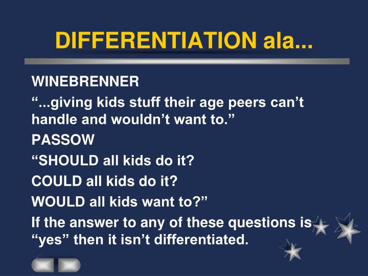 DIFFERENTIATION ala...