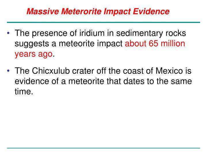 Massive Meterorite Impact Evidence