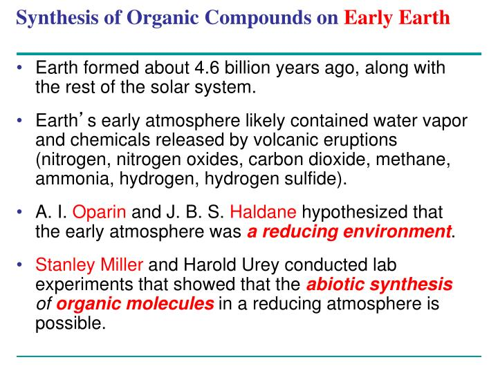Synthesis of Organic Compounds on