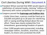 civil liberties during wwi document a