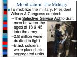 mobilization the military