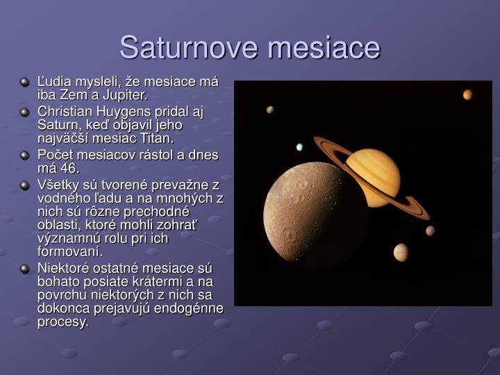 Saturnove mesiace