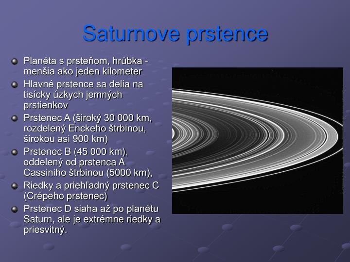 Saturnove prstence