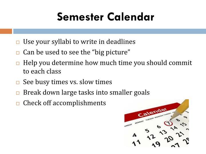 Semester Calendar
