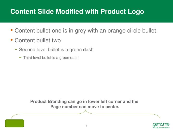 Content Slide Modified with Product Logo