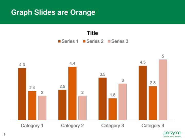 Graph Slides are Orange