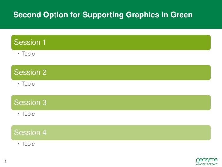 Second Option for Supporting Graphics in Green