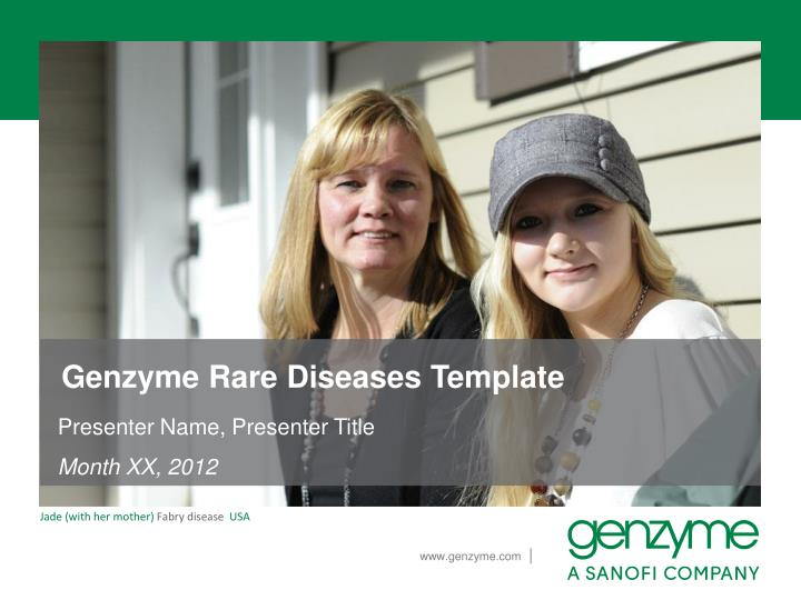 Genzyme Rare Diseases Template