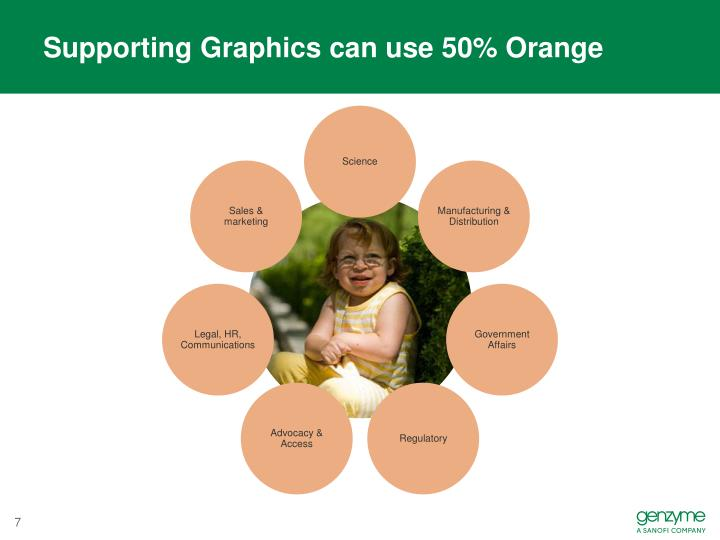 Supporting Graphics can use 50% Orange