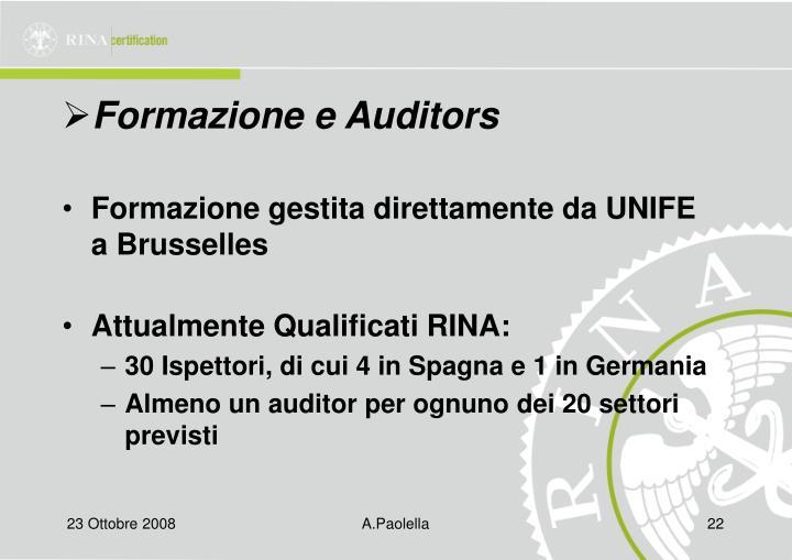 Formazione e Auditors