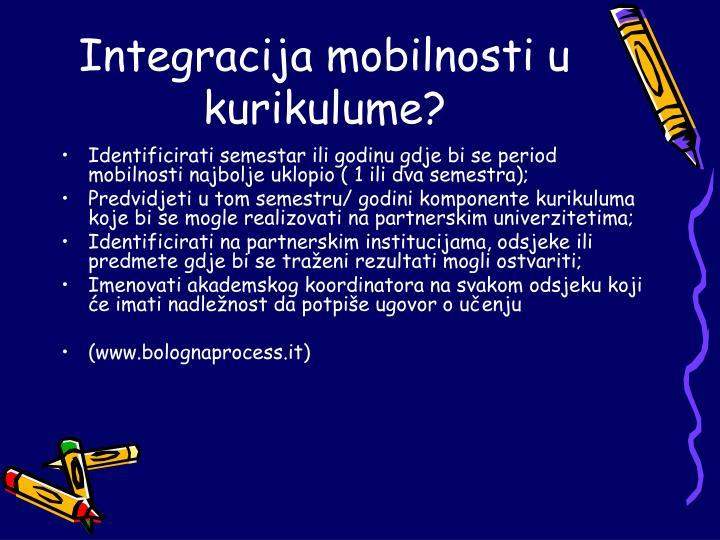 Integracija mobilnosti u kurikulume?