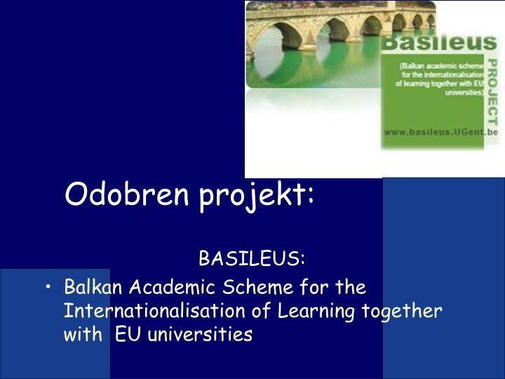 Odobren projekt:
